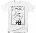 Popeye t-shirt An Idea mens white