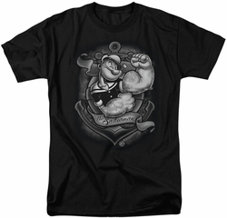Popeye t-shirt Anchors Away mens black