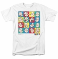 Popeye t-shirt Color Block mens white