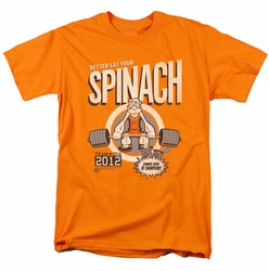 Popeye t-shirt Eat Your Spinach mens orange