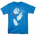 Popeye t-shirt Get To The Point mens turquoise