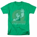 Popeye t-shirt Green Energy mens kelly green