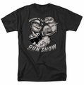 Popeye t-shirt Gun Show mens black