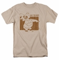 Popeye t-shirt Ha! Chump! mens sand