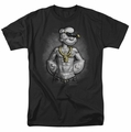 Popeye t-shirt Hardcore mens black