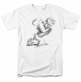 Popeye t-shirt Here Comes Trouble mens white