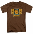 Popeye t-shirt Jammin mens coffee