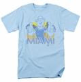 Popeye t-shirt Miami mens light blue
