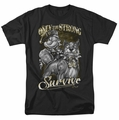 Popeye t-shirt Only The Strong mens black