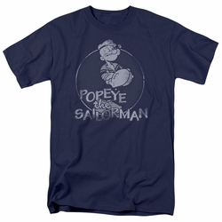 Popeye t-shirt Original Sailorman mens navy