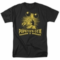 Popeye t-shirt Popeyes Gym mens black