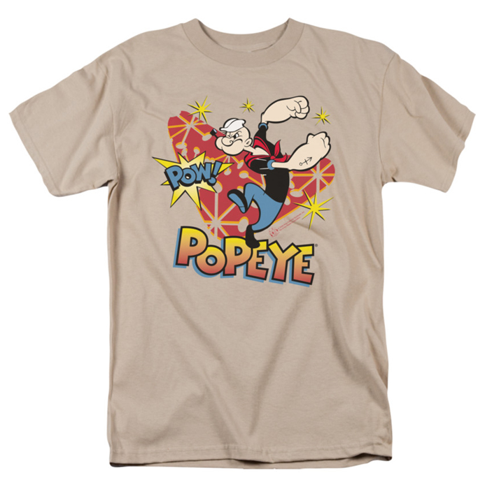 popeye t shirt pow mens sand. Black Bedroom Furniture Sets. Home Design Ideas