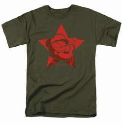 Popeye t-shirt Red Star mens military green