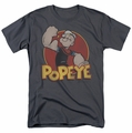 Popeye t-shirt Retro Ring mens charcoal