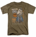 Popeye t-shirt Ride On mens safari green