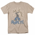 Popeye t-shirt Sailor Man mens sand