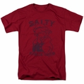 Popeye t-shirt Salty Dog mens scarlet/cardinal