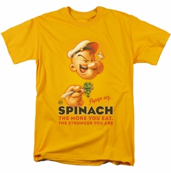 Popeye t-shirt Spinach Retro mens gold
