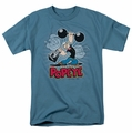 Popeye t-shirt Strength mens slate