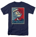 Popeye t-shirt Strong mens navy