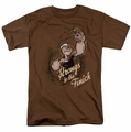 Popeye t-shirt Strong To Tha Finish mens coffee