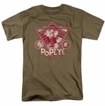 Popeye t-shirt Strong To The Finish Vintage mens safari green