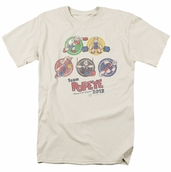 Popeye t-shirt Team Popeye mens cream