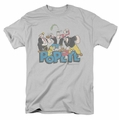 Popeye t-shirt The Gang mens silver