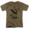 Popeye t-shirt Thug mens safari green