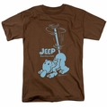Popeye t-shirt Trouble mens coffee
