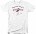 Popeye t-shirt Vintage mens white