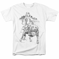 Popeye t-shirt Walking The Dog mens white
