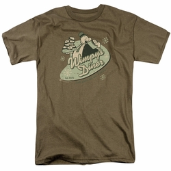 Popeye t-shirt Wimpy's Diner mens safari green
