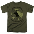 Popeye t-shirt You Want A Piece mens military green