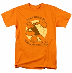 Popeye t-shirt You Want A Piece Of This mens orange