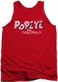 Popeye tank top 3D Logo mens red