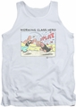 Popeye tank top Blue Bash mens white