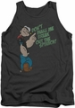 Popeye tank top Break Out Spinach mens charcoal