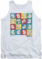 Popeye tank top Color Block mens white