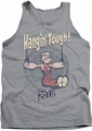 Popeye tank top Hangin Tough mens heather