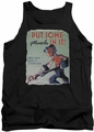 Popeye tank top Hard Work mens black