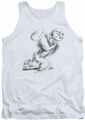 Popeye tank top Here Comes Trouble mens white