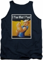 Popeye tank top I Can Do It mens navy