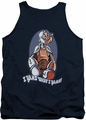 Popeye tank top I Yams mens navy