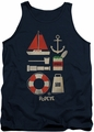 Popeye tank top Items mens navy