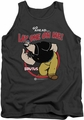 Popeye tank top Lay One On Me mens charcoal