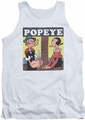Popeye tank top Loves Olive mens white