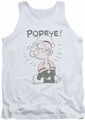 Popeye tank top Old Seafarer mens white