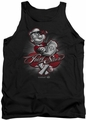 Popeye tank top Pong Star mens black
