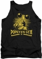 Popeye tank top Popeyes Gym mens black